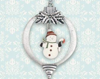 Snowman in Red Cap Ornament