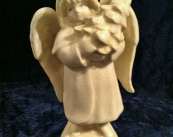 Vintage Porcelain Winter Angel