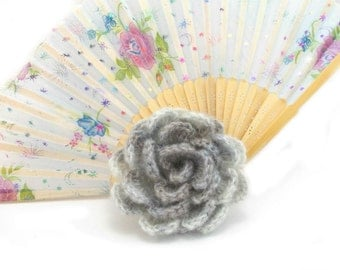 Crochet brooch, Handmade brooch, crochet jewelry, Crochet flower brooch, lapel pin, Multicolor shawl pin, mori girl, gift for her