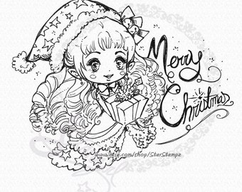 Christmas Elf - DIGITAL STAMP Instant Download for Coloring or Crafts