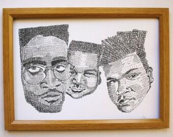 De La Soul hip hop print  *free UK postage*