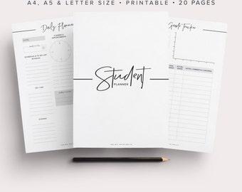 Student Planner, Study Planner, School Planner, Back to School, College Planner, High School Planner, Student Planner 2016-2017, Printable