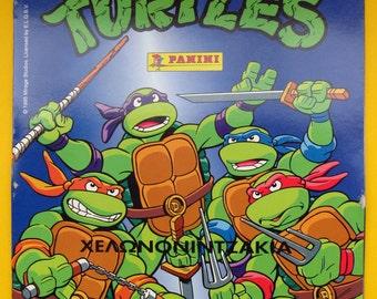 Vintage Teenage Mutant Ninja Turtles sticker Greek Album New and Empty.Panini 1995.Greek language.