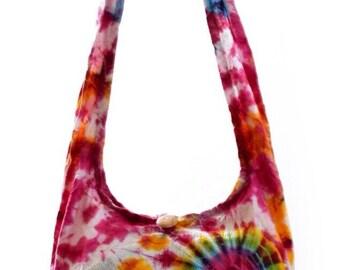 Tie Dye shoulder bag. Messenger,Hippie, Gypsy Sling,Hippy, Hobo, Crossbody, Monk, Alms, Beach. Boho