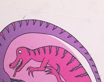 "Dirty Dinosaurs, ""Before Time Began II,"" funny handmade adult greeting card"