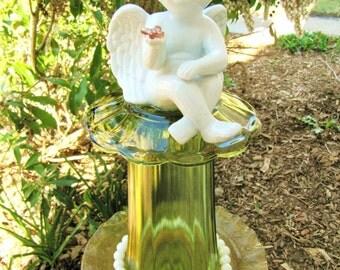 Garden art totem. garden whimsey, Yard art, Angel totem, outdoor decor, garden gift, Angels, upcycled, repurposed, garden sculpture, totems