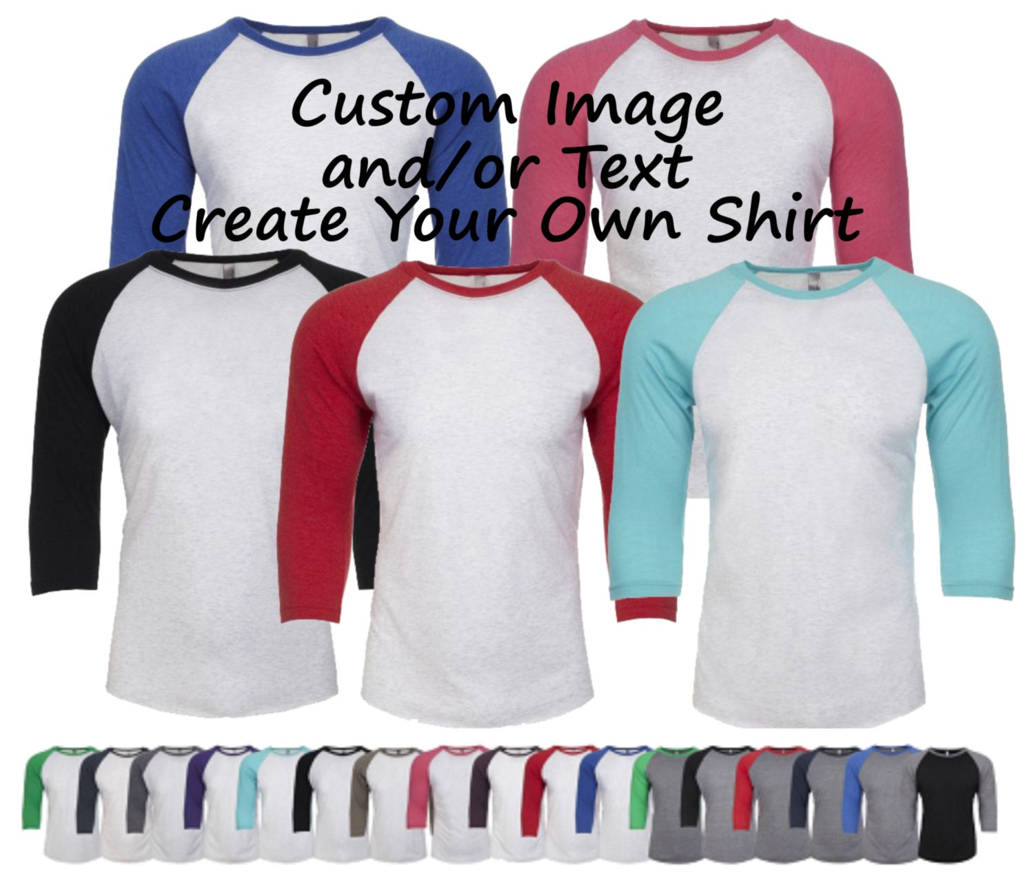 Custom adult unisex raglan shirt custom t shirt customized for Custom raglan baseball shirt
