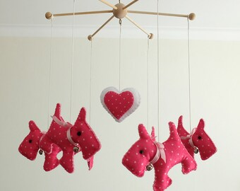 Puppy baby mobile*Animal mobile*Nursery Mobile*Baby Crib Mobile*Dog mobile*Nursery decor