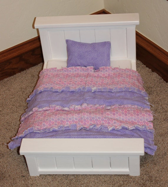 Custom Made Wood Doll Bed For 18 Inch Doll By