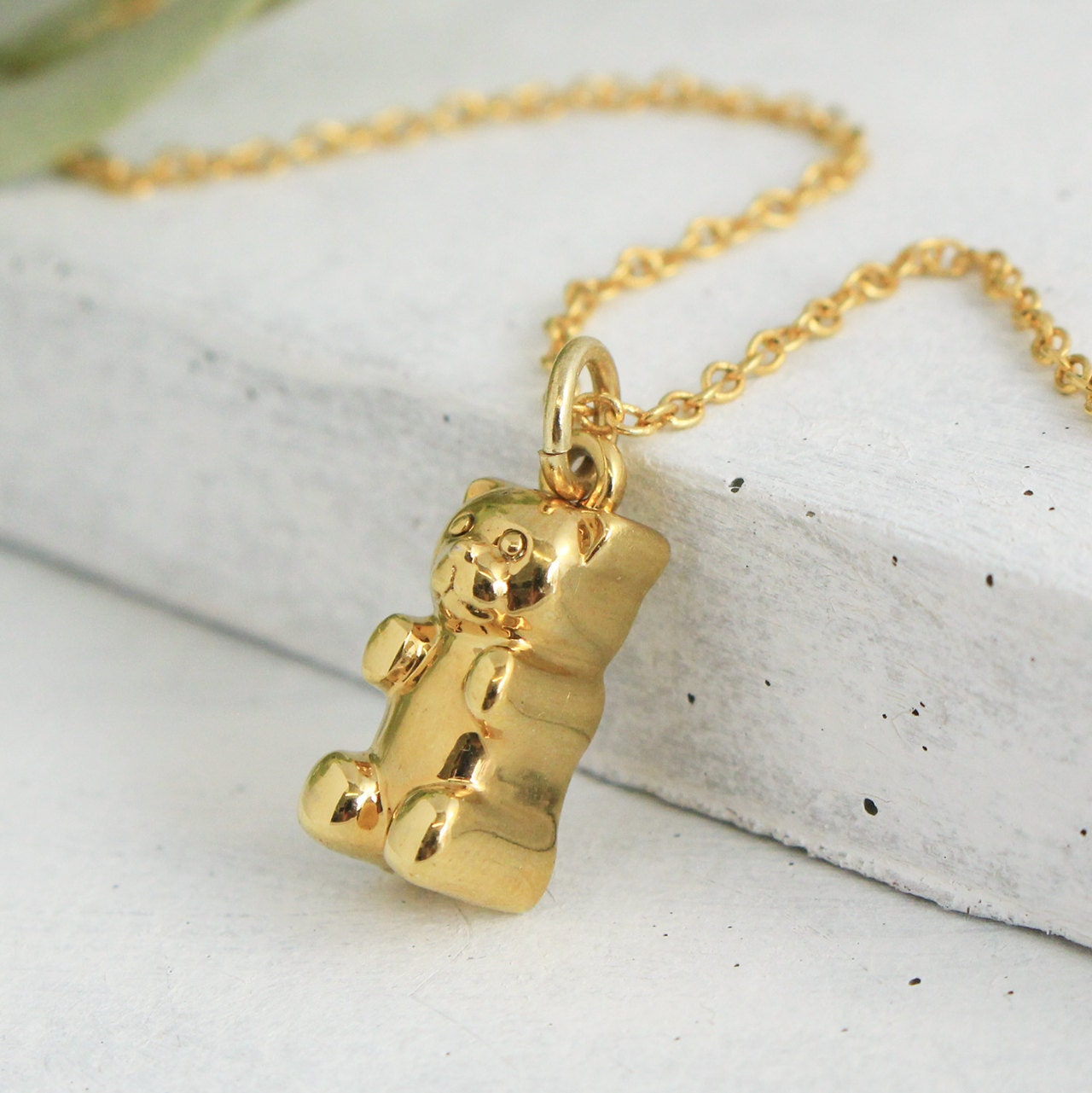 gummy bear necklace gold personalized jewelry. Black Bedroom Furniture Sets. Home Design Ideas