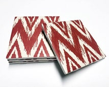 Chevron Coasters - Red, Yellow, Blue, Green, Gray, Teal Chevron Decor - Drink Coasters - Tile Coasters - Ceramic Coasters - Table Coasters