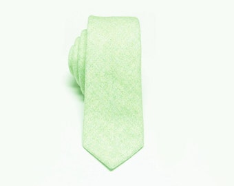 Mint Green Wool Tie.Mens Wool Necktie.Wedding Tie.Mens Grooming
