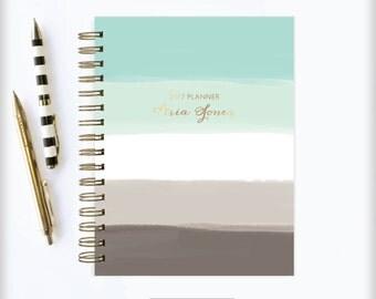 January Planner | 2017 Planner | 2017 | Student Planner | Professional Planner | Agenda | Notebook | Ombre Planner | 2017 Calendar
