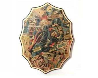 Horror Art Decor - Horror Art - Comic Book Horror Art - Wall Art - Home Decor - Comic Book Art - Horror Art - Dracula Art