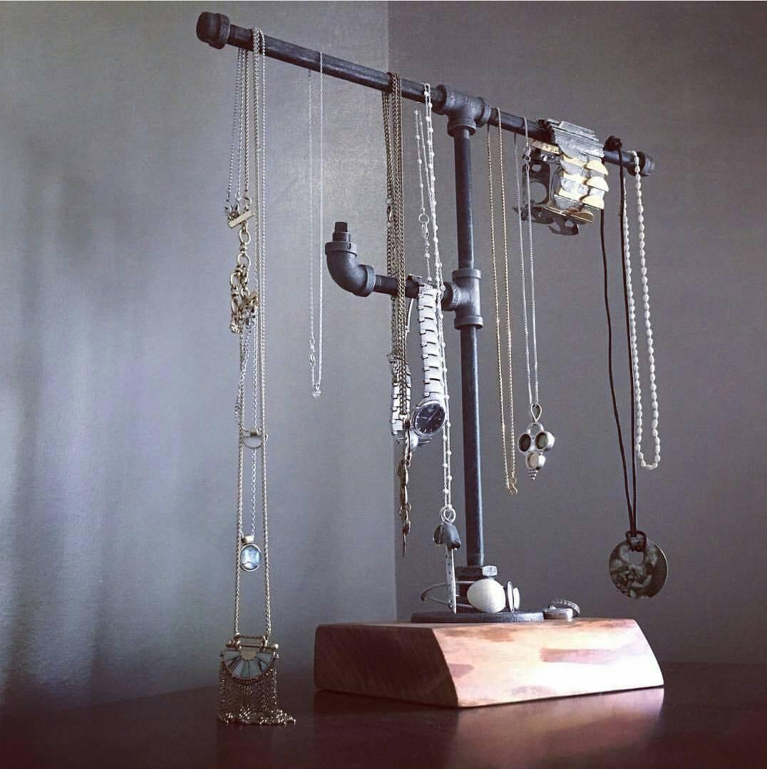 Industrial Pipe Jewelry Stand Jewelry Display Jewelry