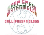 Warp Speed Watermelon Gallifreyan Gloss - Watermelon Flavored / Redish Pink Colored Lip Gloss - Doctor Who Inspired