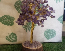 Amethyst Gem Tree, Wired Polished Tumbled Stones