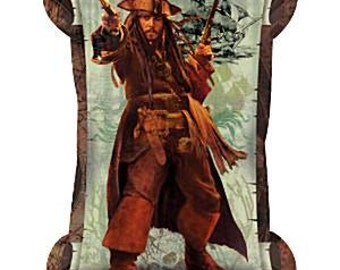 """34"""" Pirates of the Caribbean 4 Scroll"""