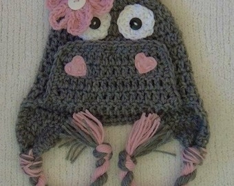 Crochet Hippo Hat, Animal Hat, LuvBeanies, Crochet hats for kids, Girl Hippo Hat, Girl Beanies, Valentines day, Photo prop, Baby gift