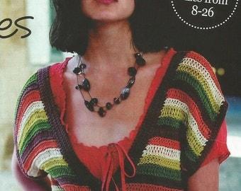 Instant Download - PDF- Pretty Stripe Crossover Top Knitting Pattern (K36)