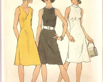 VINTAGE Simplicity Sewing Pattern - Women's Clothes - Misses Dress, Size 14