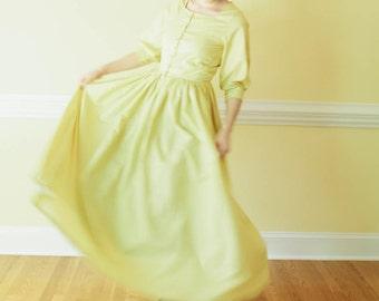 Square Neck Dress - Button up modest dress - Prairie Dress Made to Measure Modest dress colonial dress Mennonite reenactment dress