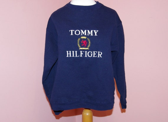 90 39 s bootleg tommy hilfiger sweatshirt size medium. Black Bedroom Furniture Sets. Home Design Ideas