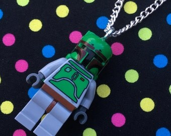Star Wars Boba Fett Necklace...Handmade using LEGO® parts