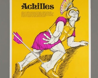 1972 Poster Achilles Trojan War Greek Hero Greek Mythology Laminate The Perfection Form Company