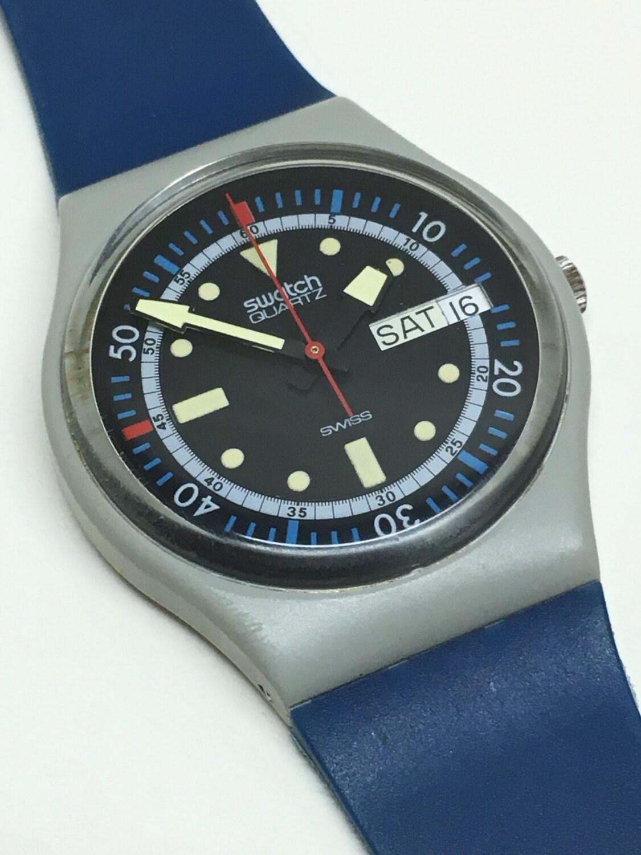 Vintage swatch watch calypso diver gm701 1985 original case - Swatch dive watch ...