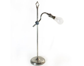 French Pratic Lamp, Adjustable Articulated Lamp Stand, Desk Lamp, Industrial Loft Studio Lightning Deco
