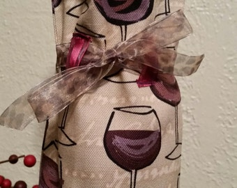 Wine Glass Wine Tote