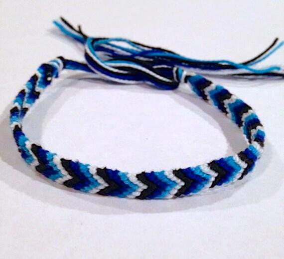 chevron friendship bracelet chevron string bracelet blue