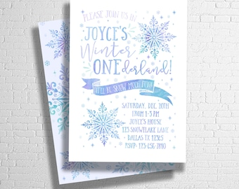 Winter ONEderland Invitation | ONEderland Invite | Winter First Birthday Invitation | DIGITAL FILE ONLY