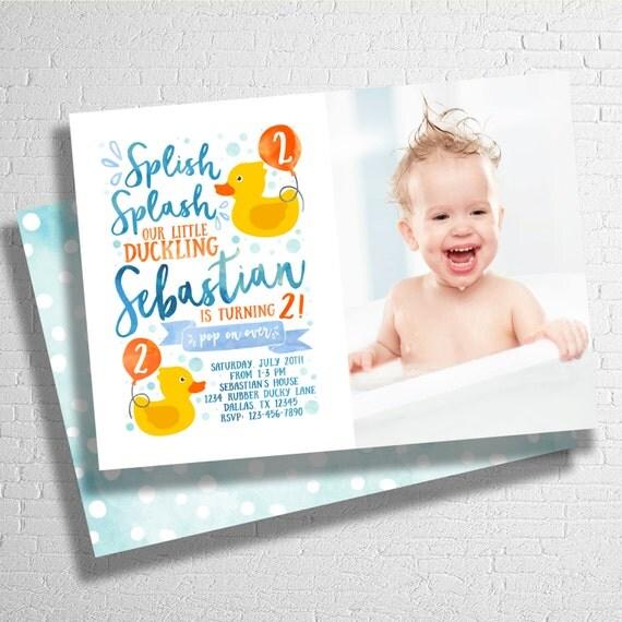Rubber ducky birthday invite rubber duck splish splash birthday il570xn filmwisefo