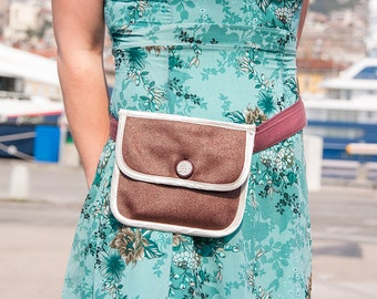 """Belt bag """"Lily"""" - unique small elegant purse"""