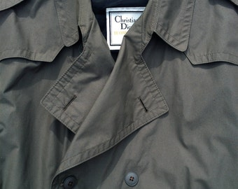 1980s Trench Coat Lined Christian Dior Le Connoisseur