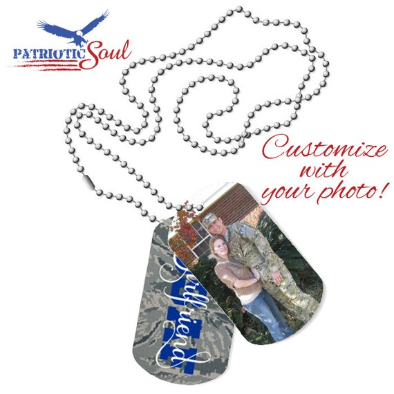 Personalized Dogtag Necklace Air Force Girlfriend Military