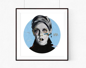 Twiggy | llustration art giclée print | illustration,print, Wall decor, signed art, wall art, portrait, poster,vintage,art A4 | A3 | A2 |