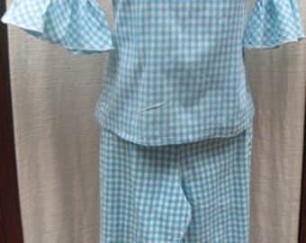 Vintage 1960s COTTON Pant Suit Size: Small