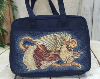 Angel Bible Bag, Church Bag, Bible Case, Scripture tote, bible purse, bible carrier, faith bag, christian gift, scripture purse, church gift