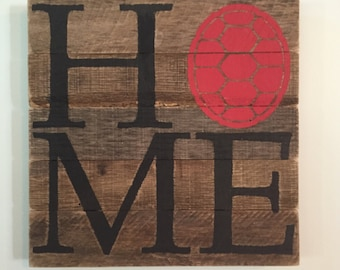 UMD Testudo Turtle Shell HOME Sign // Custom // Gifts for Her // Gifts for Him // Wedding // Pallet // Maryland // College