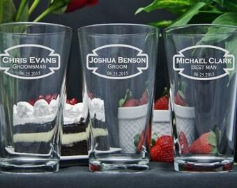 Groomsmen Gift Ideas, Wedding Groomsman Gift, Personalized Glasses, Beer Glasses, Beer Mugs, Best Man Gift, Wedding Party Gift Idea, Custom