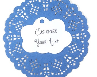 Cloud Themed Baby Shower Tags Set of 20 -  Custom White Favor Tags - White Neutral Baby Sprinkle - Personalized Weather Party Tags