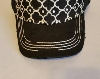 Black Rhinestone Baseball Hat