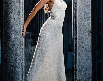 White Beaded Gown