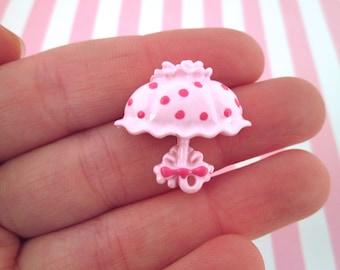 Pink Parasol Cabochons Umbrella Cabochons, #661A