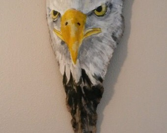 Painted Palm Frond.. The American Eagle.. Wall art