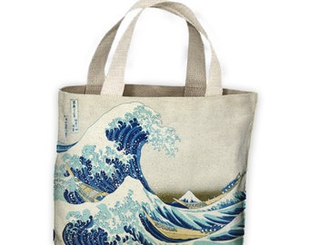 Hokusai The Great Wave off Kanagawa Tote Shopping Bag For Life - Japan