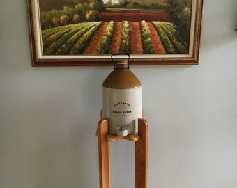 Hand Crafted Water Cooler Stand with Vintage Water Cooler